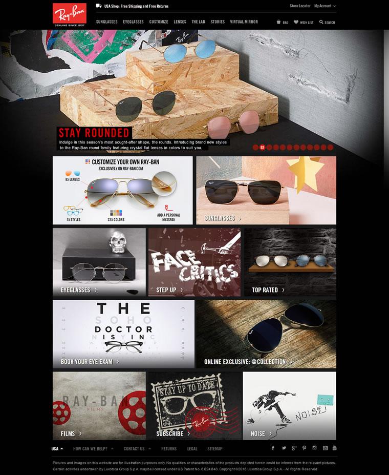 Ray-Ban雷朋美国官网:全球领先的太阳眼镜品牌