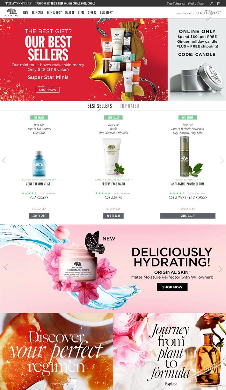 Origins加拿大官网:雅诗兰黛集团高端植物护肤品牌