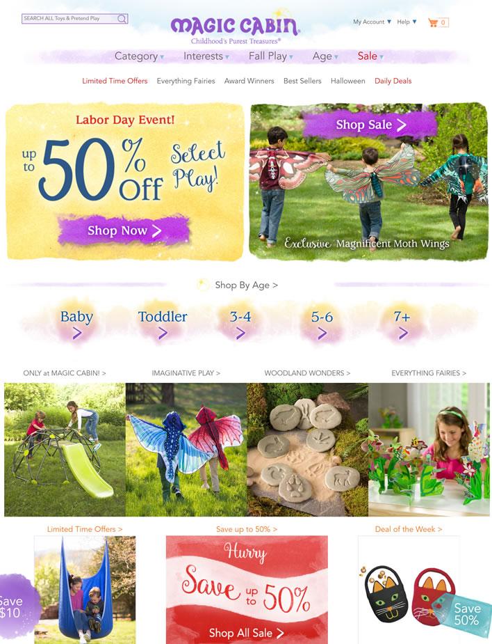 美国儿童玩具、装扮和玩偶商店:Magic Cabin
