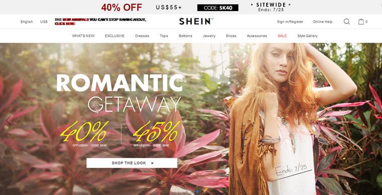 在线服装零售商:SheIn
