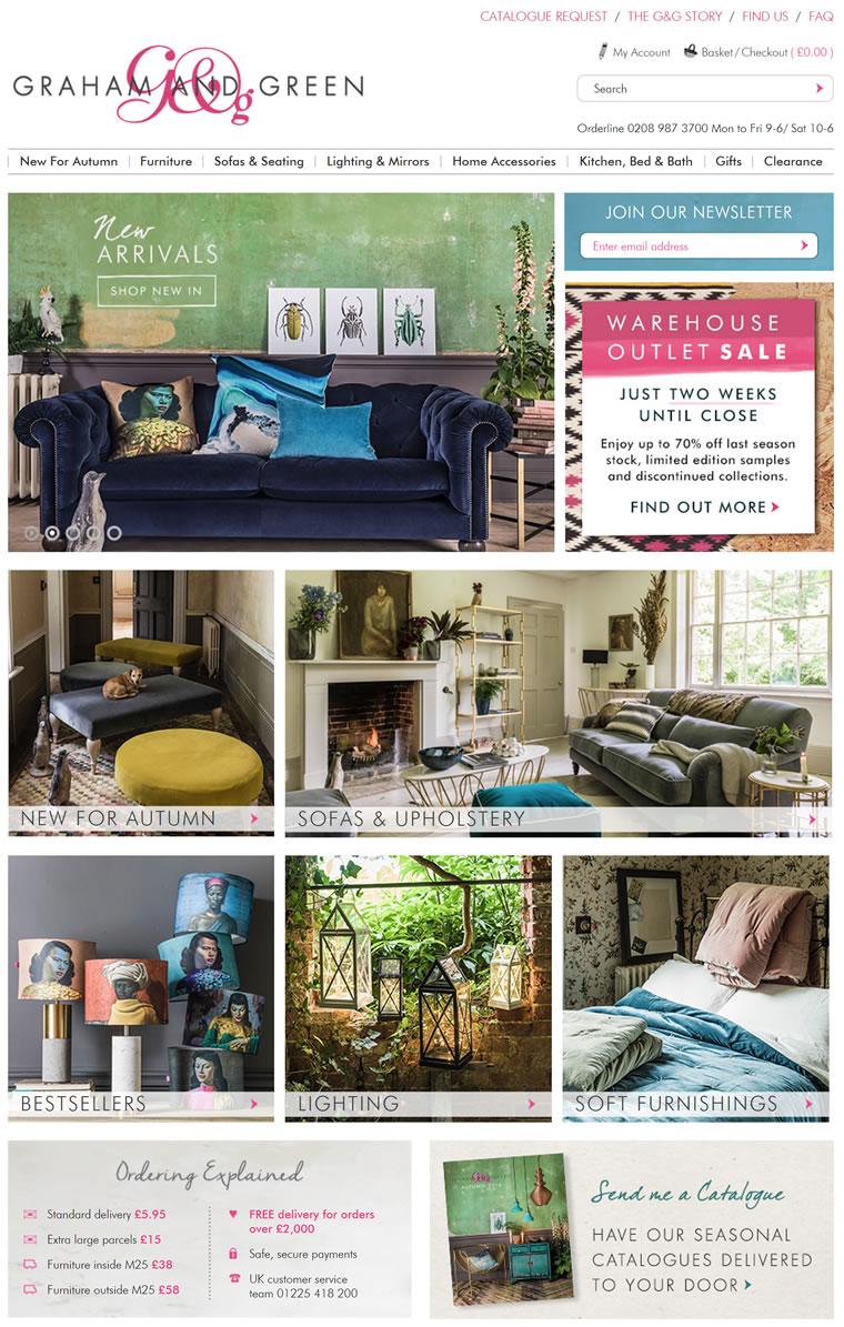 英国时尚家具、家居饰品及礼品商店:Graham & Green