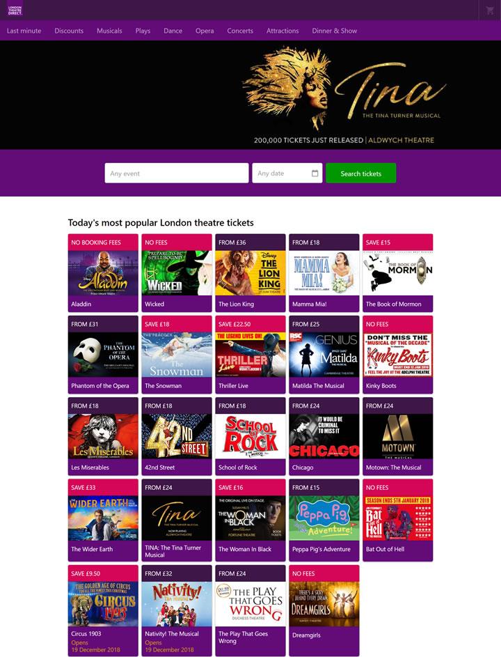 伦敦剧院门票:London Theatre Direct