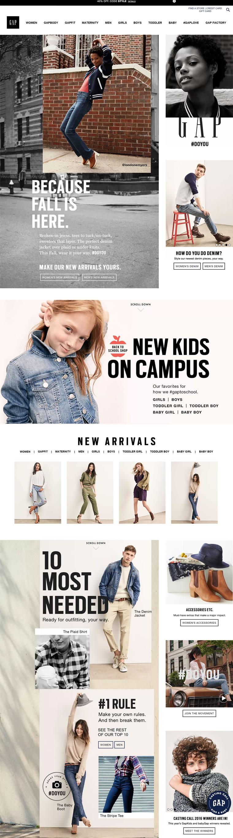 GAP美国官网:美国休闲时尚品牌