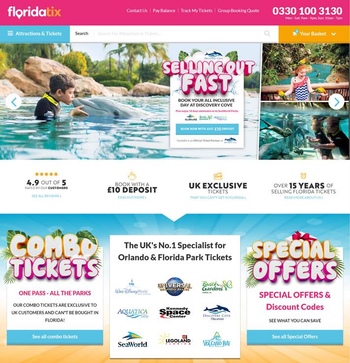 预订佛罗里达州景点门票:FloridaTix