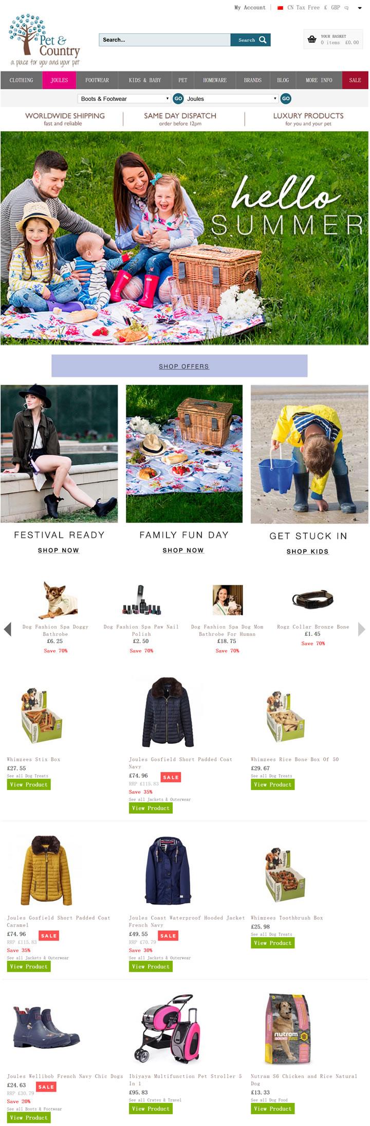英国乡村时尚和宠物用品专家:Pet & Country