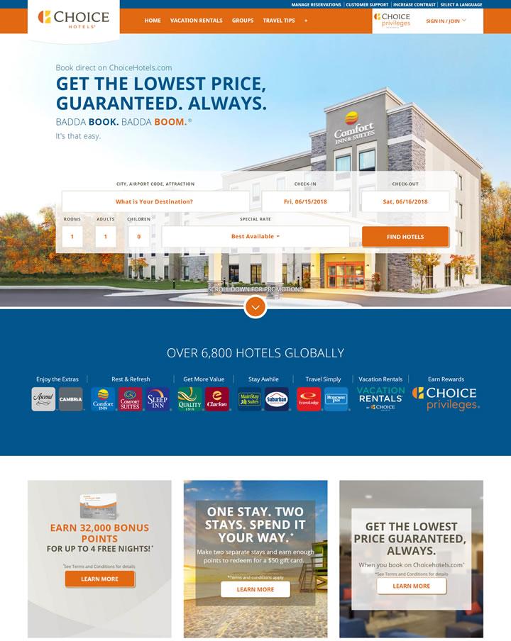 美国酒店控股公司:Choice Hotels