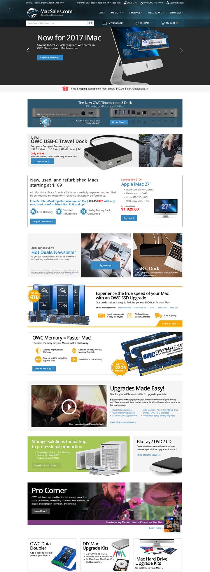 苹果Mac升级:MacSales.com