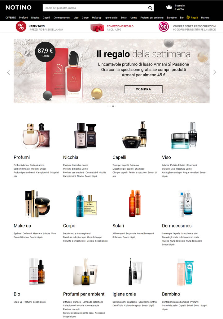 Notino意大利:购买香水和化妆品