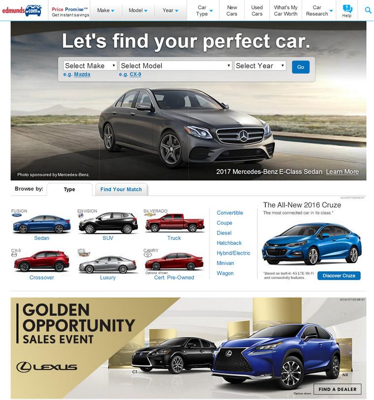 美国汽车交易网站:Edmunds