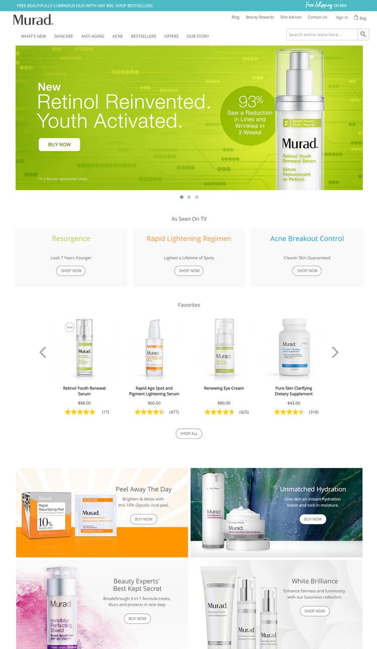 美国祛痘、抗衰老药妆品牌:Murad