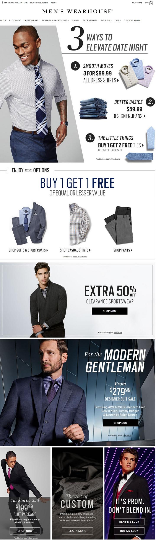 美国男装连锁零售商:Men's Wearhouse