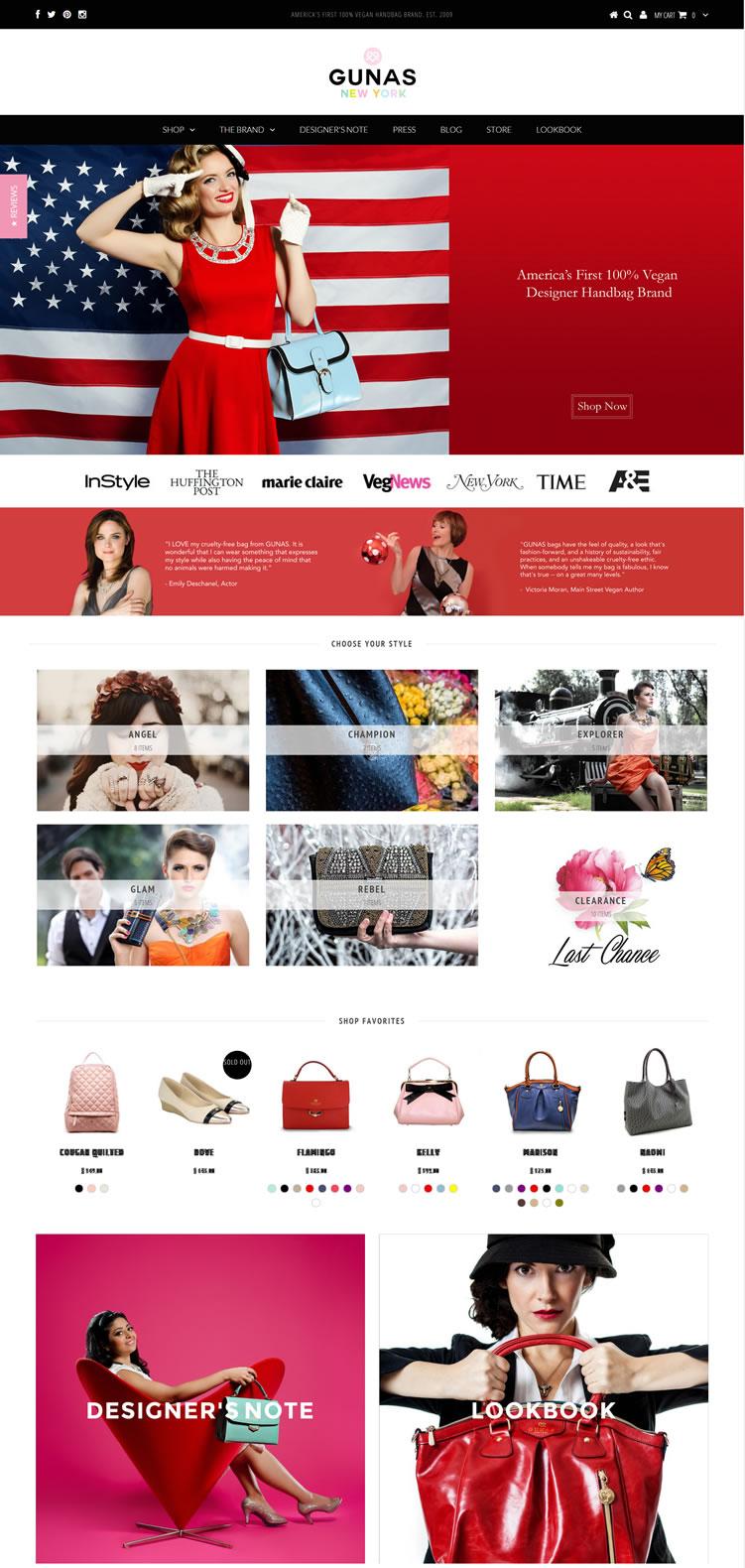 美国第一家100%不伤害动物的手袋品牌:GUNAS NEW YORK