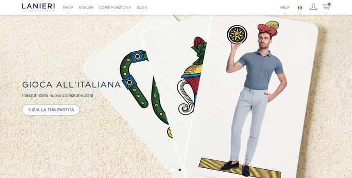 意大利制造的西装、衬衫和针对男士量身定制的服装:Lanieri