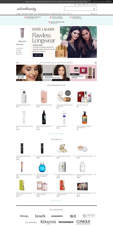 澳大利亚领先的在线美容商城:Adore Beauty