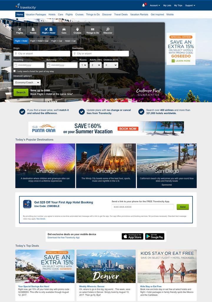 北美三大旅游网站之一:Travelocity