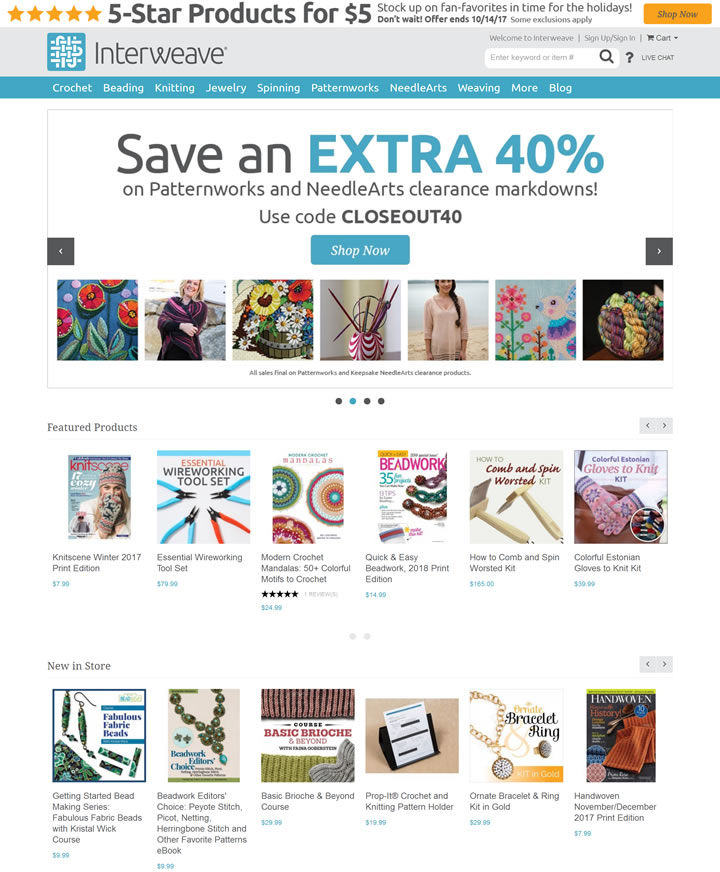 美国编织商店:Interweave Store