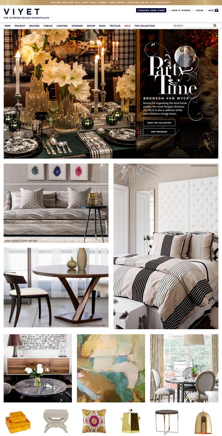 设计师家具购买和委托在线市场:Viyet
