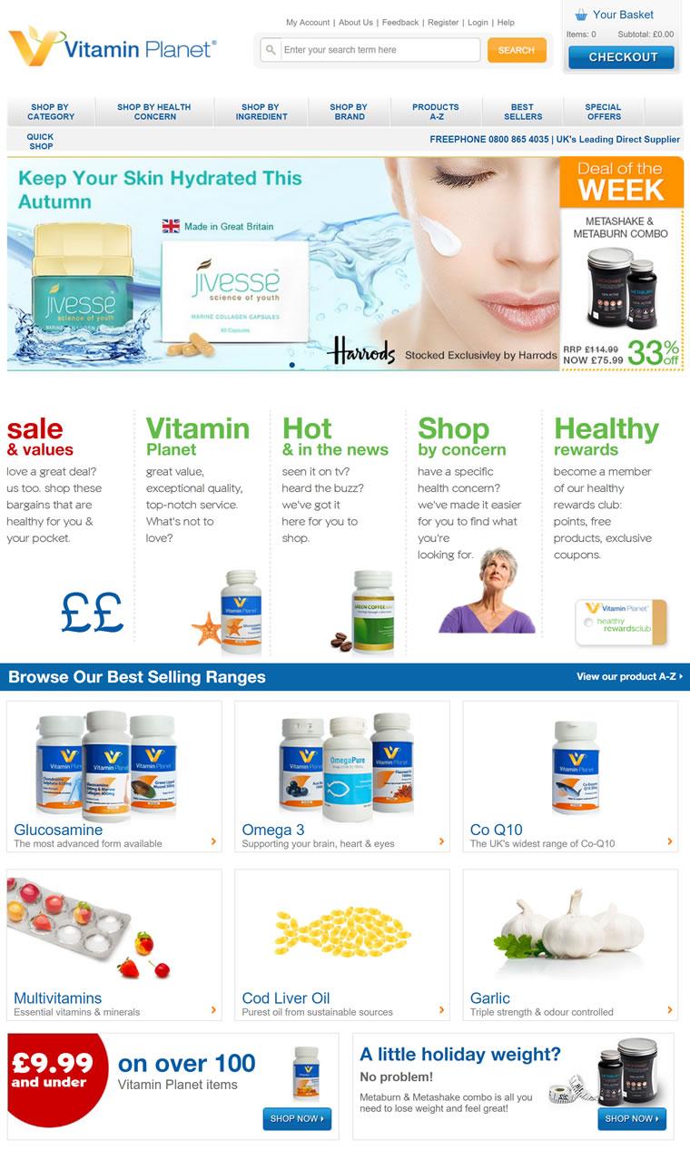 英国最大的线上保健品零售商之一:Vitamin Planet