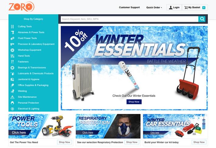 英国Zoro工具:手动工具,电动工具和个人防护用品