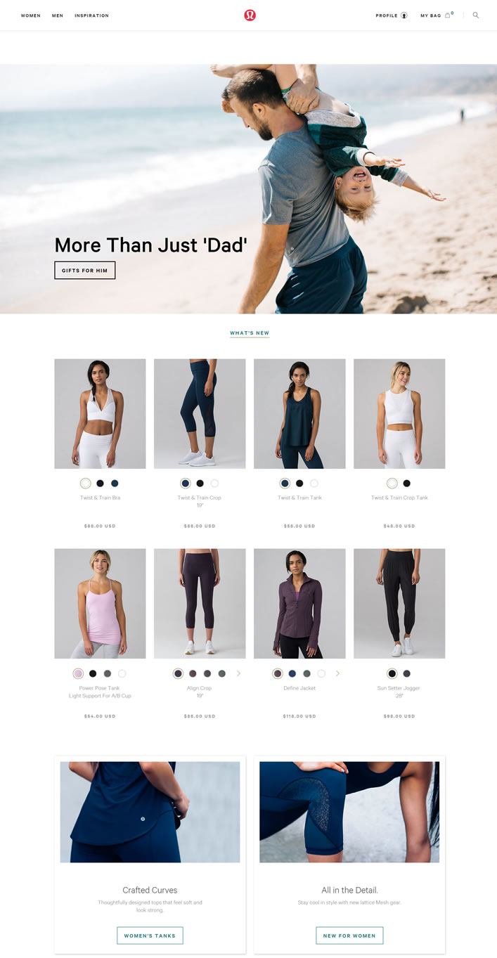 瑜伽服装品牌:露露柠檬(lululemon athletica)