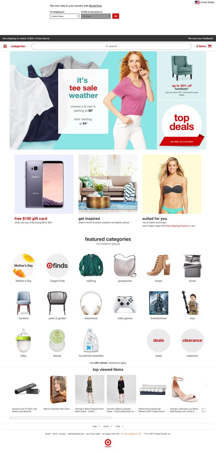 塔吉特百货公司官网:Target