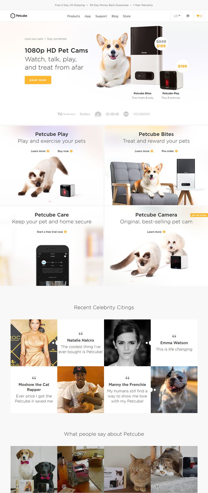 远程Wi-Fi宠物监控相机:Petcube