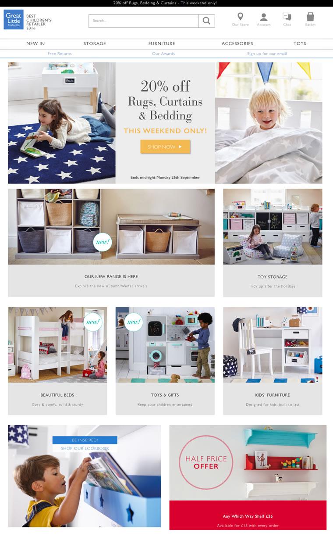 英国儿童家具专卖店:GLTC