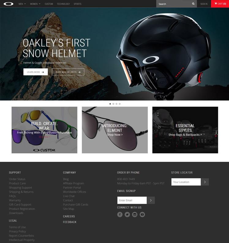 Oakley官网:运动太阳镜、雪镜和服装