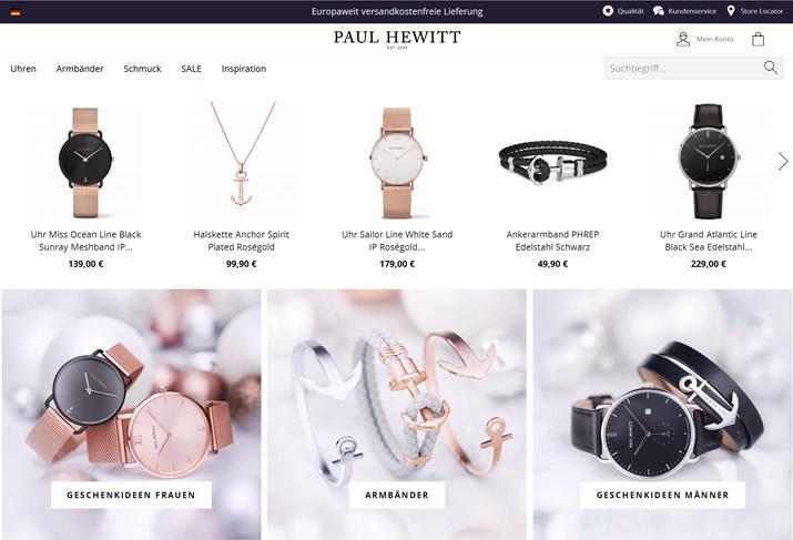 PAUL HEWITT手表美国站:德国北部时尚生活配饰品牌,船锚元素