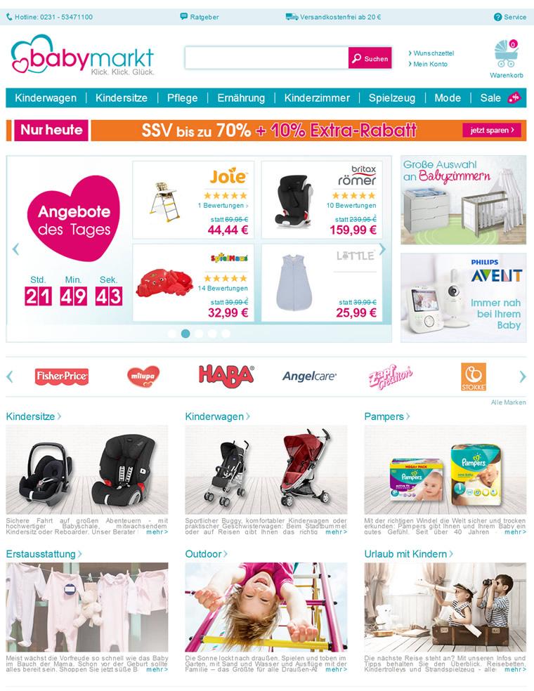 德国婴儿用品商店:Baby Markt