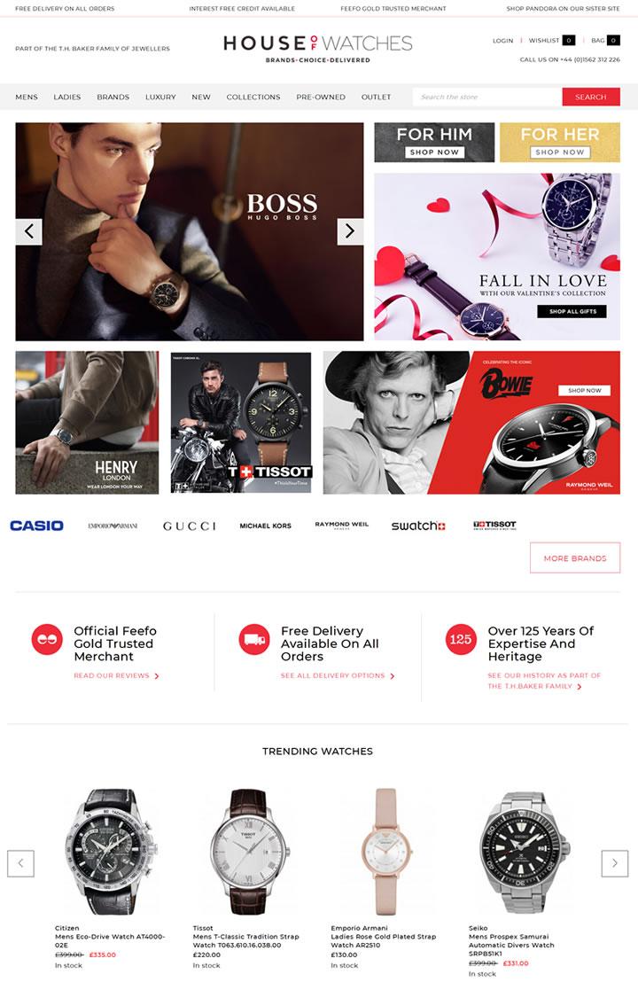 英国在线手表零售商:House Of Watches