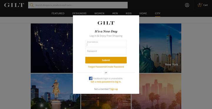 美国奢侈品在线团购网站:Gilt City
