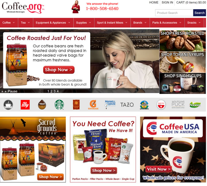 美国咖啡批发网站:Coffee.org