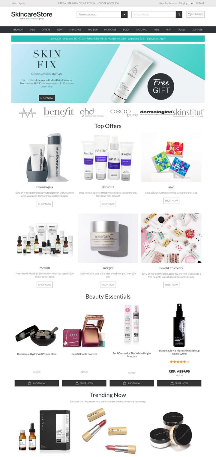 澳大利亚领先的美容护肤品零售商之一:SkincareStore