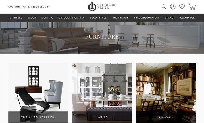 澳大利亚家具和家居用品在线商店:Interiors Online