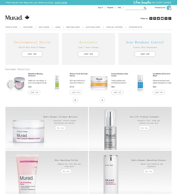 Murad加拿大官方网站:美国药妆品牌,祛痘和抗衰老产品