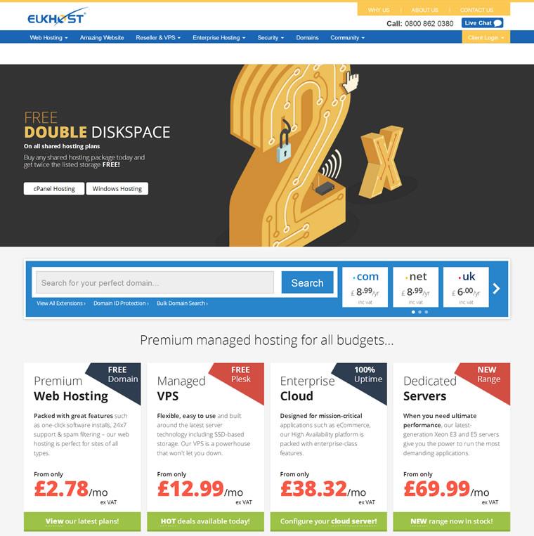 英国虚拟主机服务商:eUKhost
