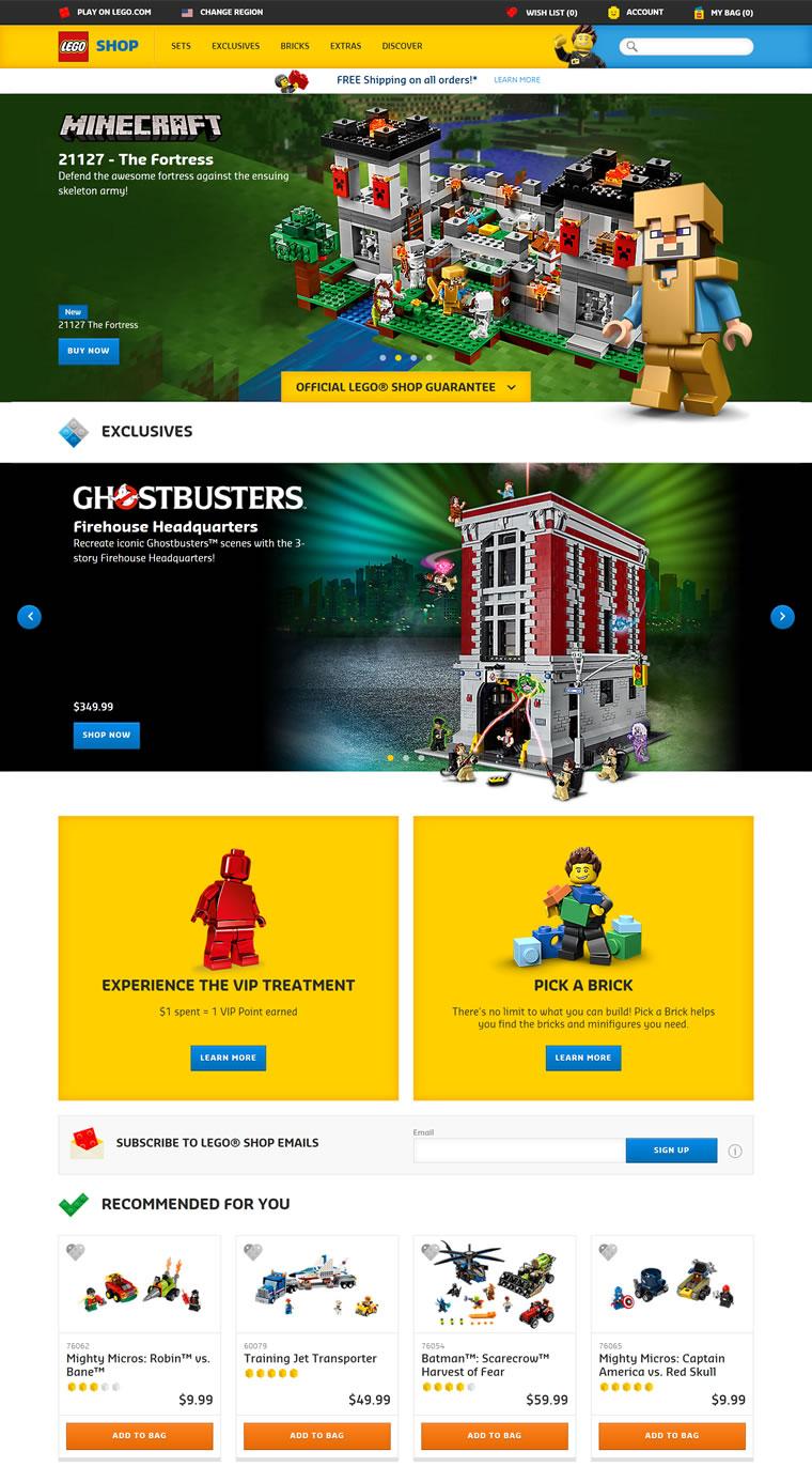 乐高积木玩具美国官网:LEGO Shop