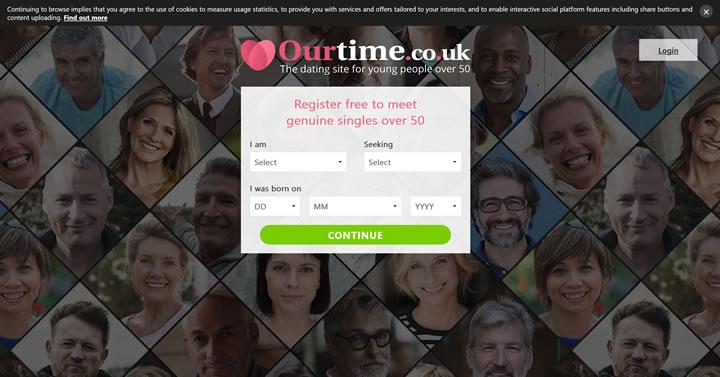 英国50岁以上人群的交友网站:Ourtime