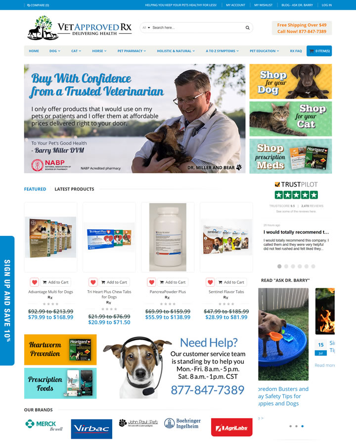 兽医批准的宠物药物网站:Vet Approved Rx