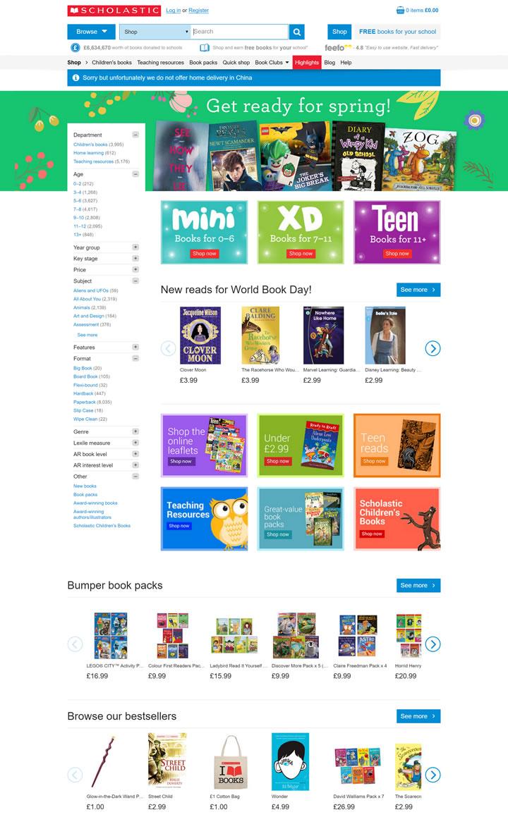 英国儿童图书网站:Scholastic