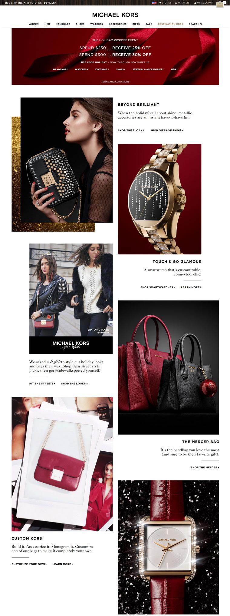 Michael Kors美国官网:美式奢侈生活风格的代表