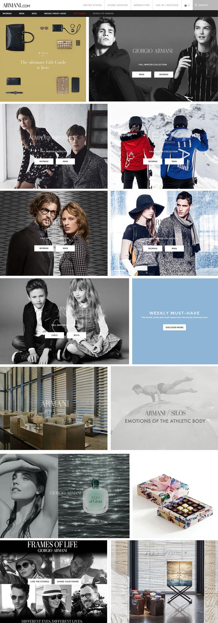 阿玛尼官方网站:Armani.com