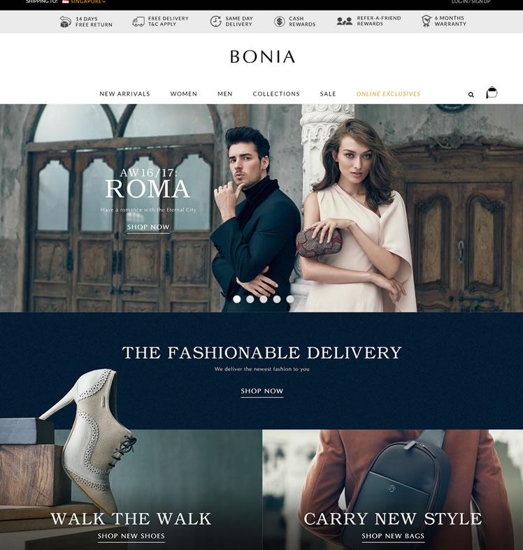 BONIA波尼亚新加坡官网:皮革手袋,鞋类和配件