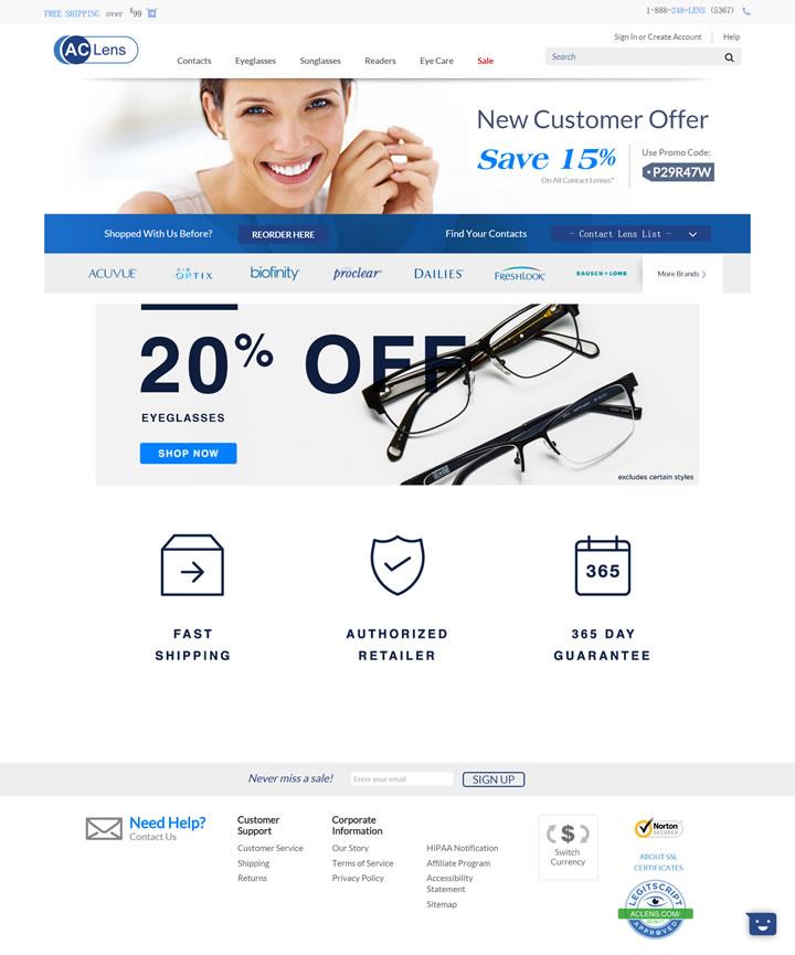 AC Lens:购买隐形眼镜