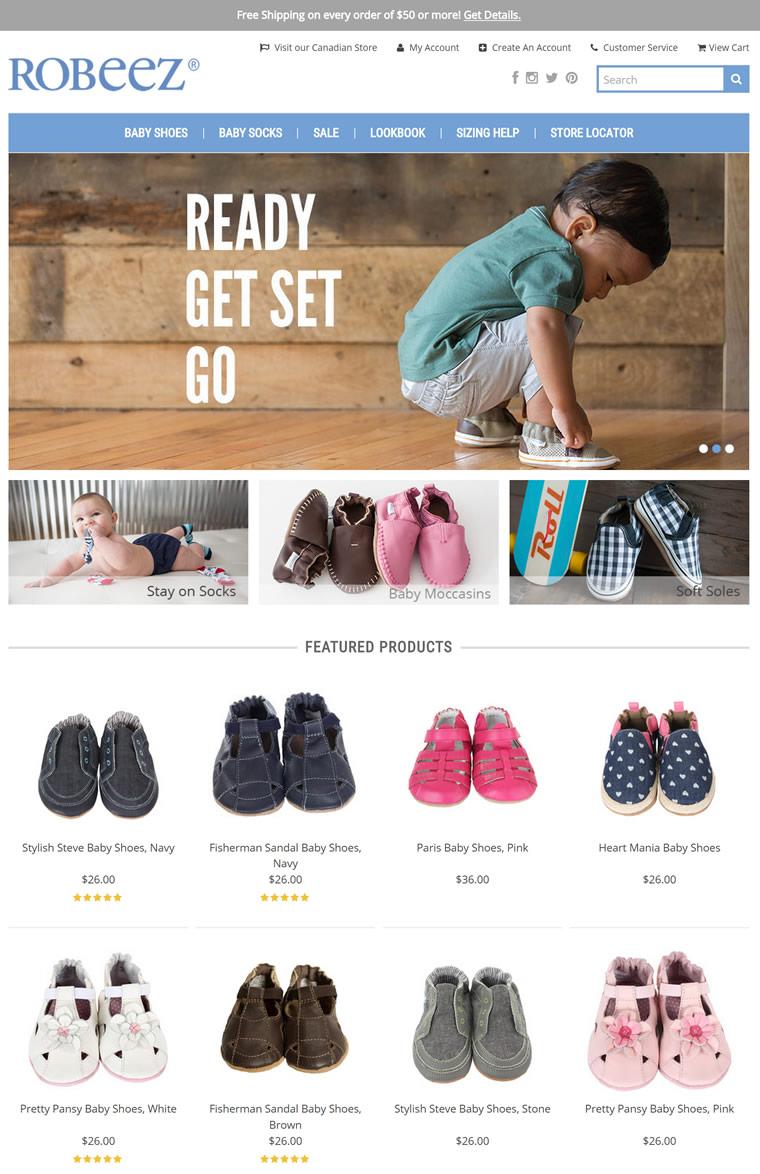 美国著名的婴儿学步鞋老品牌:Robeez