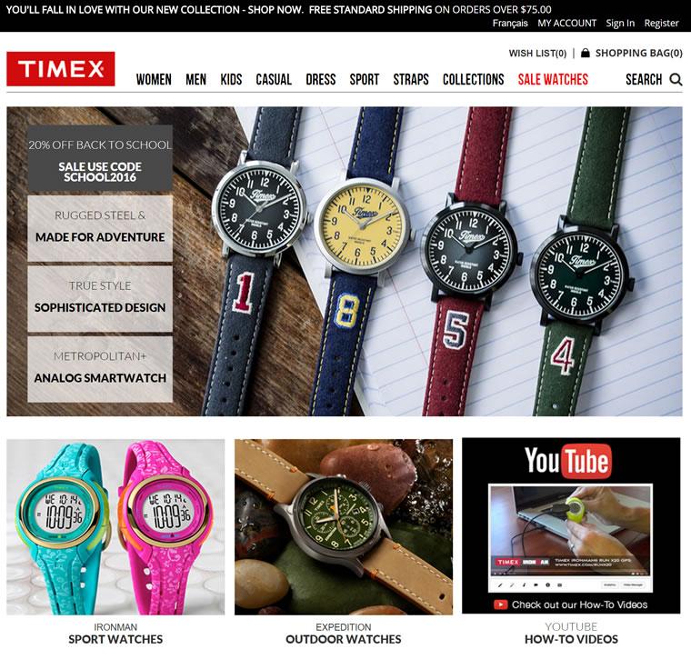 天美时手表加拿大官网:Timex加拿大