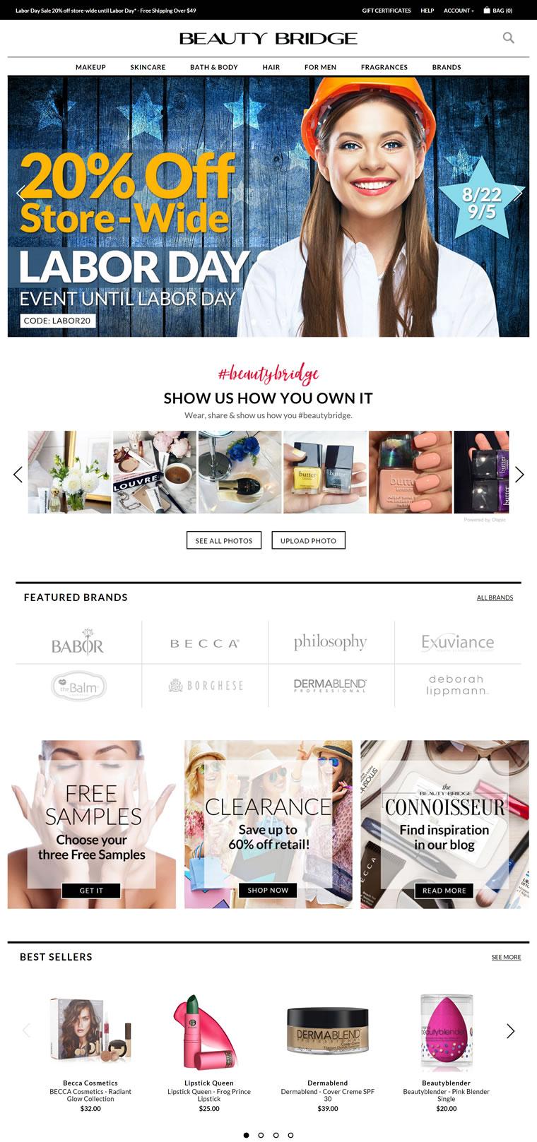 美国彩妆护肤品店:Beauty Bridge