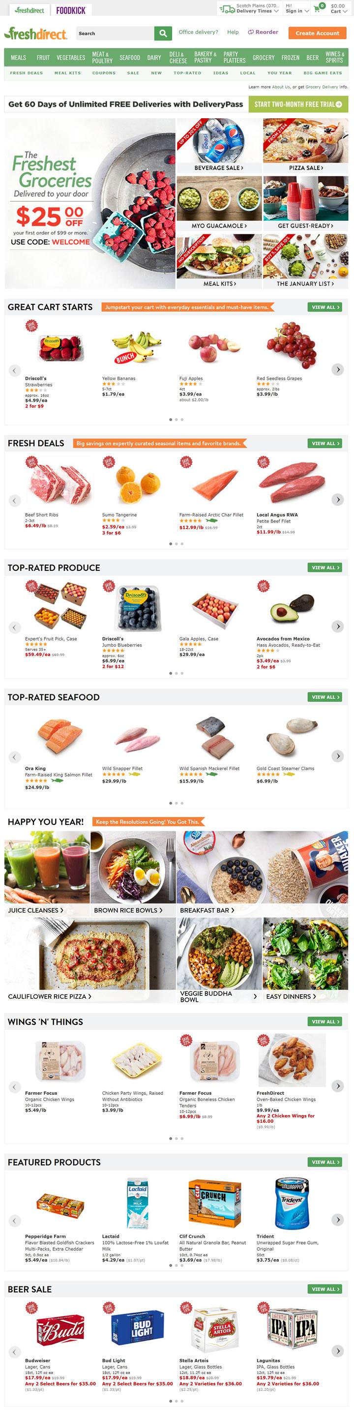 美国生鲜及杂货电商:FreshDirect