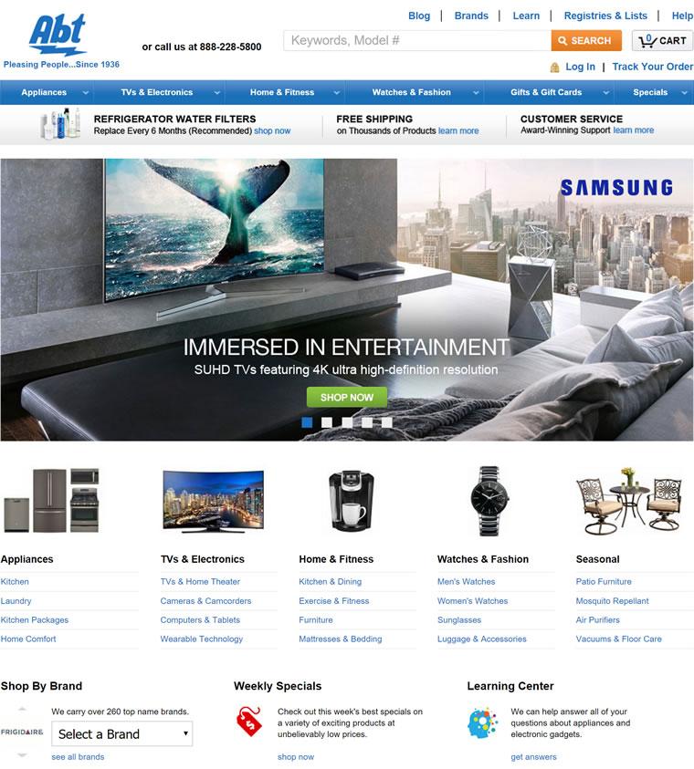 美国家用电器和电子产品商店:Abt